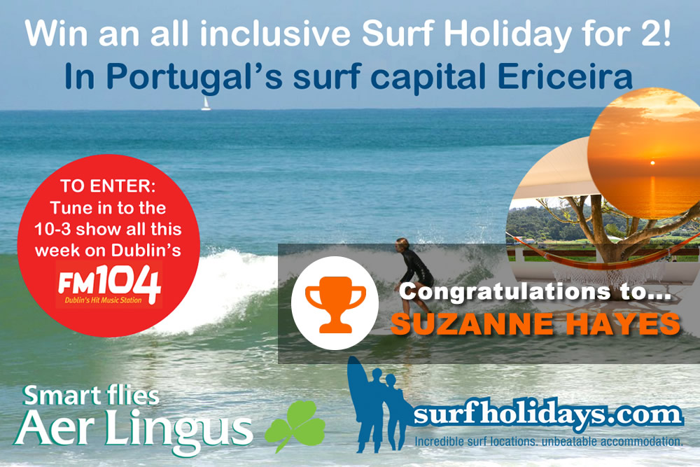 Surfholidays.com competition winner fm104