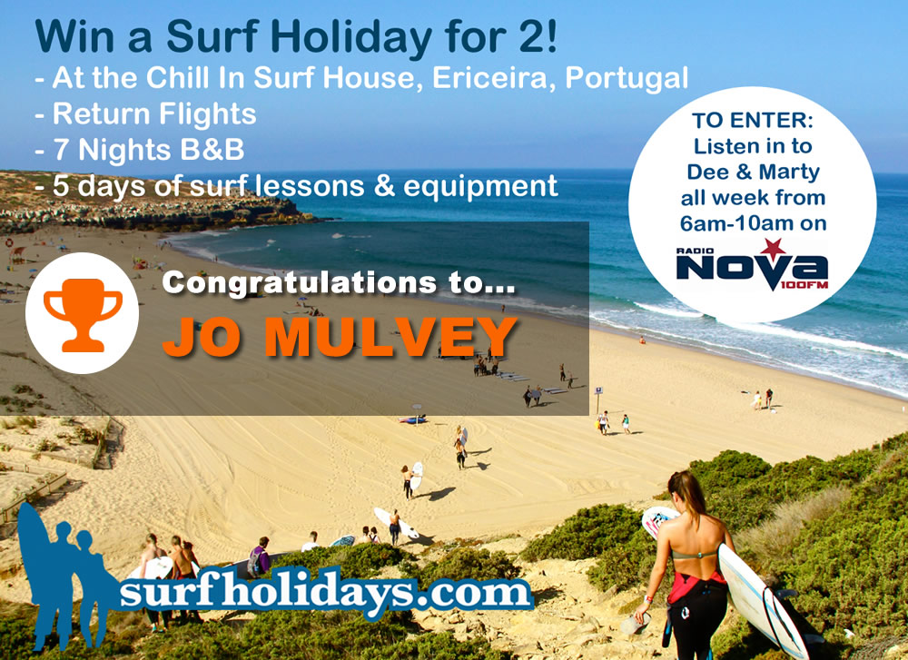 Surfholidays competition winner Radio Nova