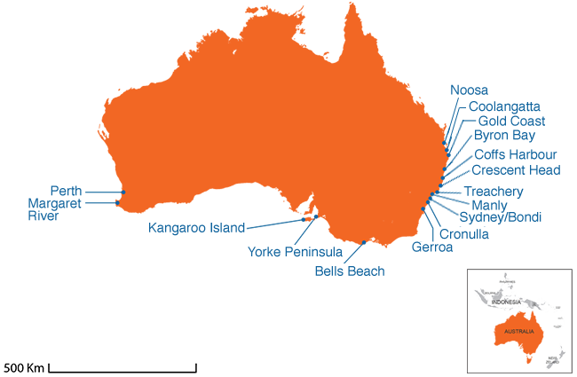 Map Of Australia Facts.Surf Holidays Australia Surfing Camps Australia Resorts Spots