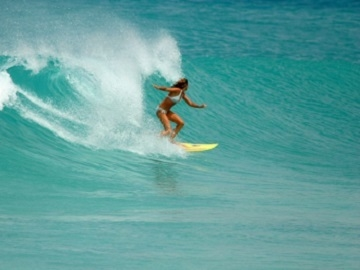 Surfing Barbados