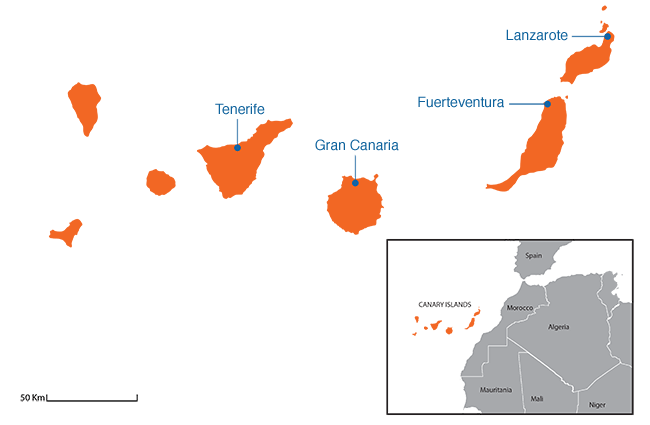 Canary Islands - Country map image