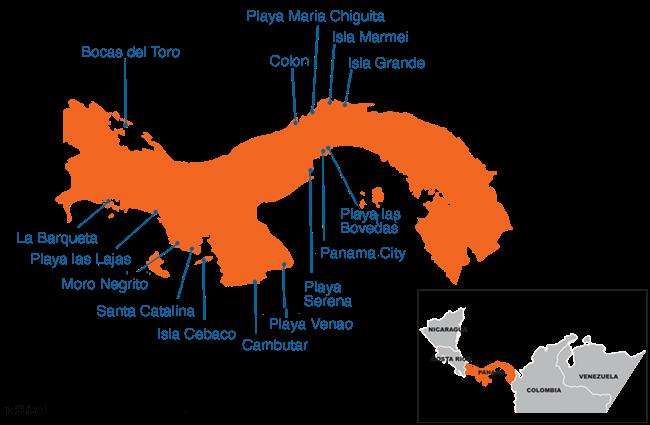 Panama - Country map image