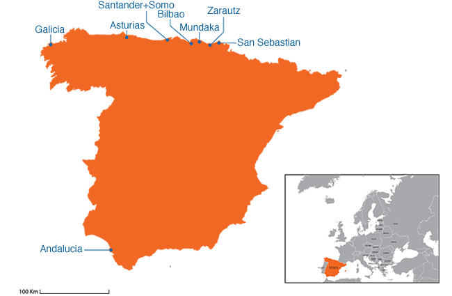 Spain - Country map image