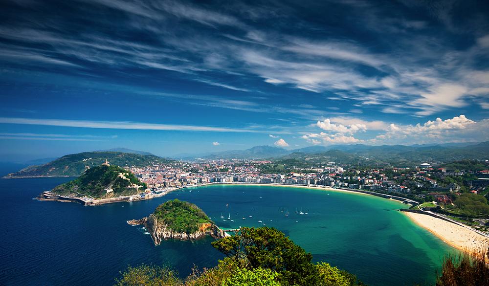 San Sebastian is a very popular surfing spot