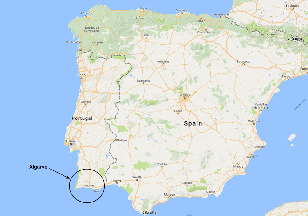 Surf Blog The Top Surf Beaches In The Algarve Portugal - Portugal map beaches