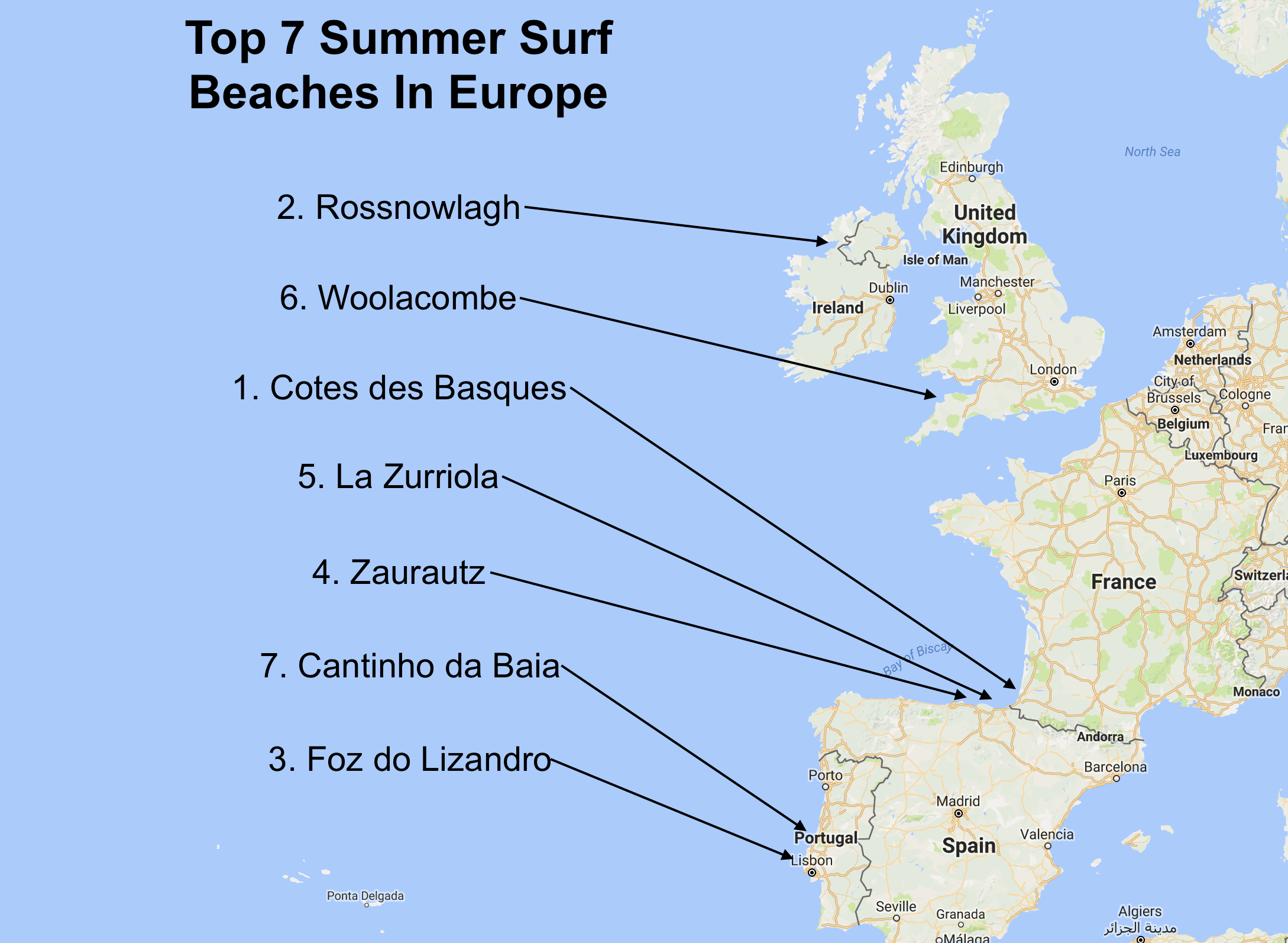 surf blog top 5 summer surf beaches in europe. Black Bedroom Furniture Sets. Home Design Ideas
