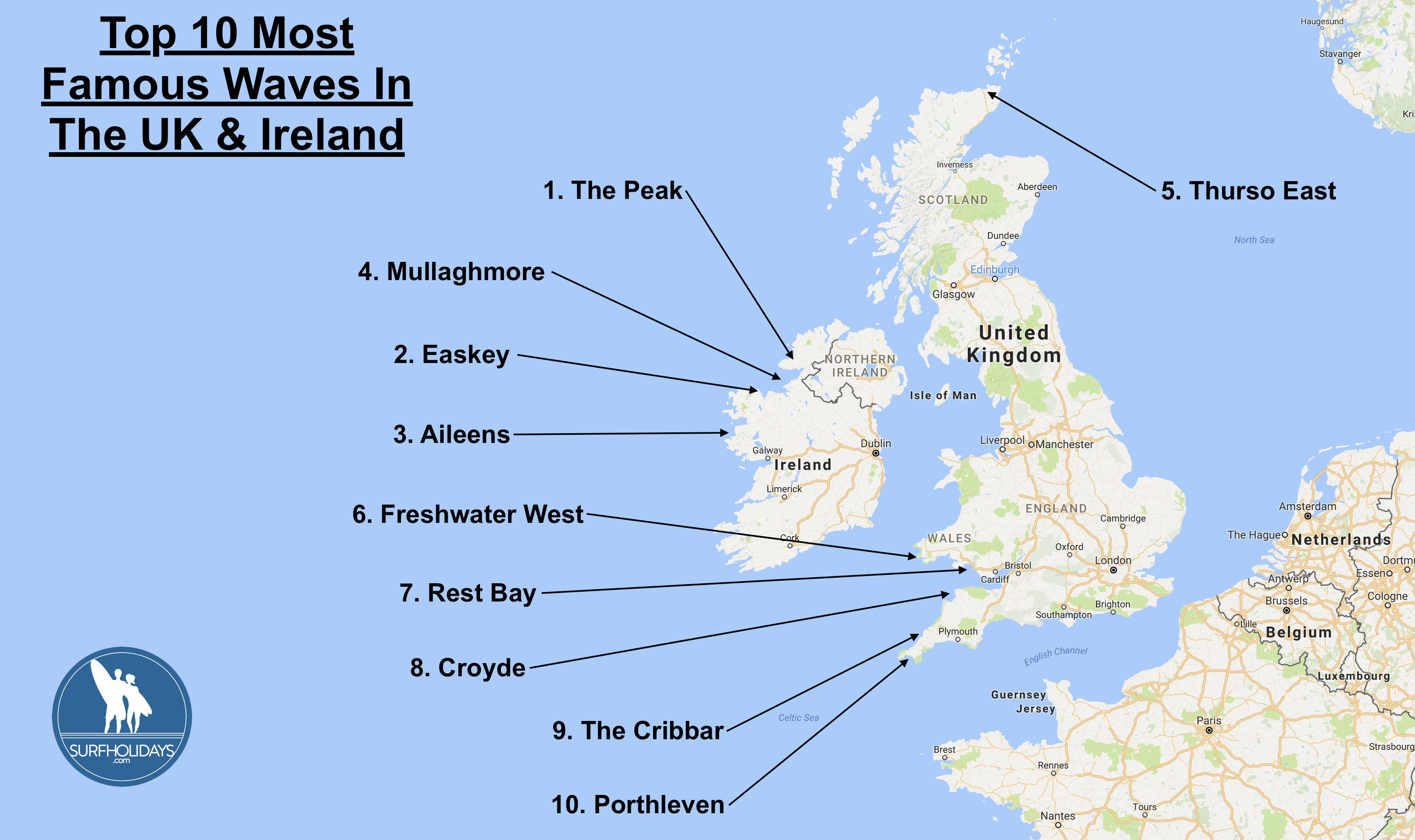 Surf blog the top 10 most famous waves in the uk and ireland surf holiday should check out the ten waves listed below so you can make the most of your escape and seek out the best waves the uk and ireland have to publicscrutiny Images