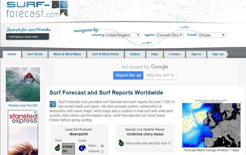 Surf Blog - The Top 5 Surf Forecast Websites