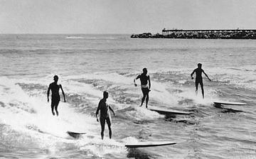 Surfing in the 50s