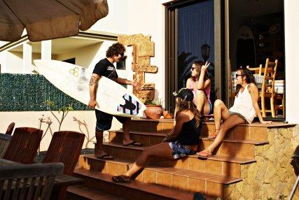 Rocky Point Fuerteventura After surfing,  enjoying the sunset
