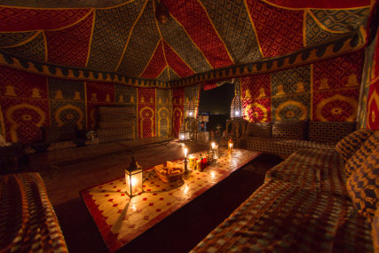 On the top terrace we have a traditional berber tent.