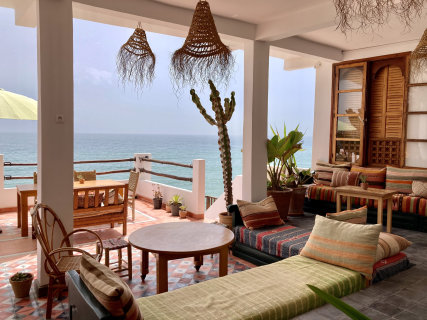 our terrace with panorama view to Hashpoint surf spot and taghazout