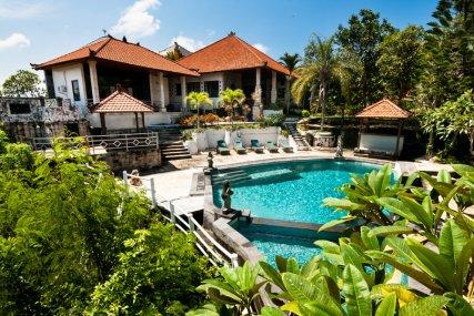 Puri Uluwatu Villas Outdoor view of Nirvana and HC1