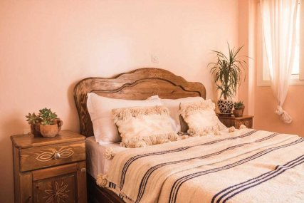 Our private rooms at The Lunar Surf House provide a touch of Moroccan luxury at an affordable price.