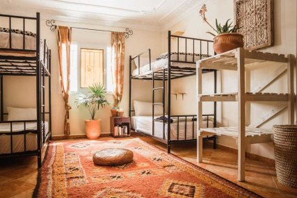 Our large and spacious, eight person bunk bed dorm is perfect for independent travelers or large groups.