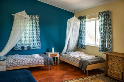 Double/Twin room with pool and garden view