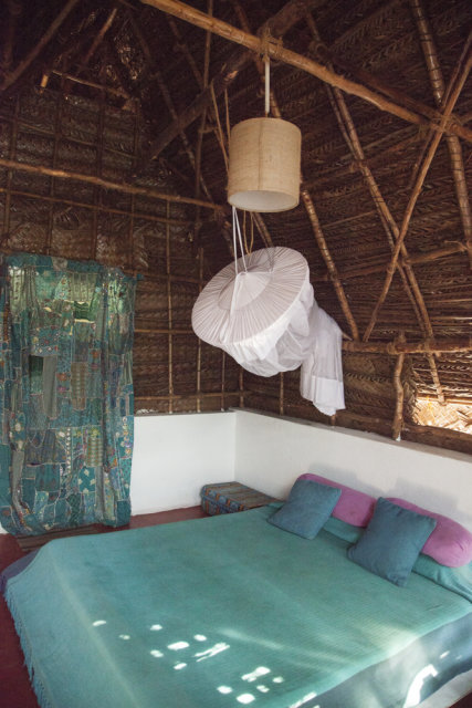 The inside of our beautiful Tamil Nadu Style Cabins.