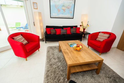Villamar Apartment Spacious living room