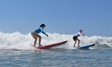 Catching the firsts waves!