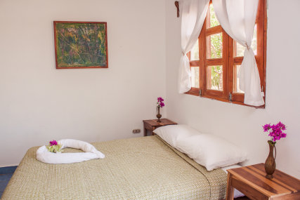 Manzanillo is a comfortable room with a double bed and two twin beds in a bunk bed set-up. This room is excellent for a family or 3-4 friends traveling together. Breakfast for two included for guests staying nightly or weekly.