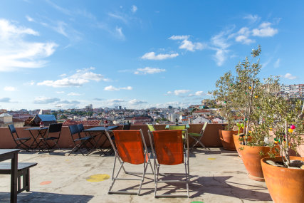 This Is Lisbon Hostel Terrace View