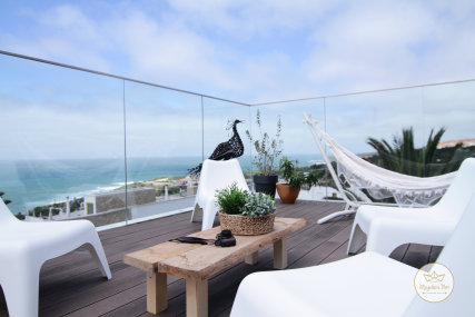 • TERRACE • Imagine waking up in the morning to the sound of breaking waves, following the smell of the fresh sea breeze upstairs, grabbing a piping-hot coffee from the kitchen and heading to the terrace to gaze at the breath-taking ocean view.