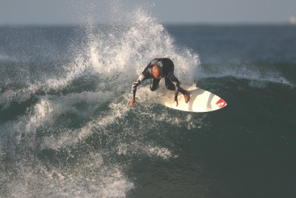 Surfing at Playa de Somo