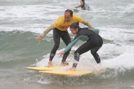 Surfing at Playa de Somo