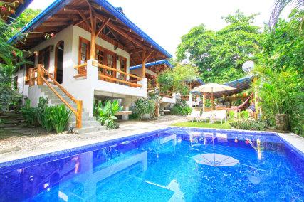 Beautiful swimming pool at Blue Surf Sanctuary