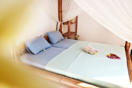 Our deluxe double bedroom in a private villa, just for you!