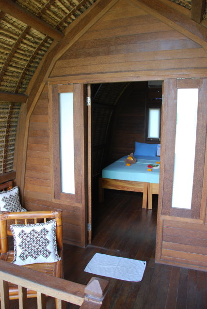 Lumbung double room with balcony and pool view!